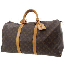 LOUIS VUITTON Keepall 50 Boston Hand Bag Monogram M41426 Vintage Auth #Z199 S