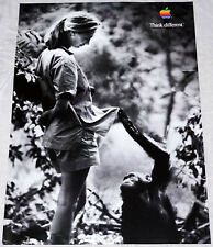 """APPLE Think different JANE GOODALL poster approx 28""""/20"""" rolled shipping mint"""