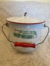 Large Vintage Enamelware Chamber Pot