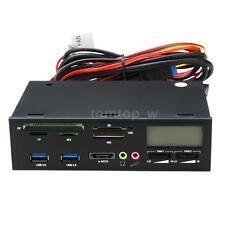"5.25"" USB e-SATA Media Dashboard Front Panel TF CF SD Card Reader I/O Ports"