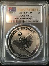 2018-P Australia Kookaburra-Dog Privy PCGS MS70 First Strike (POP 664)
