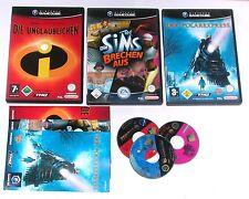 3 Spitzen KINDER Spiele für Gamecube z.B. UNGLAUBLICBEN; SIMS; POLAREXPRESS