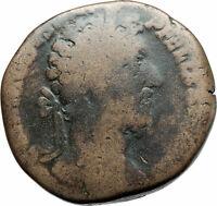 COMMODUS 186AD Sestertius Big Rome  Ancient Roman Coin Hilaritas i79304