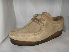 CLARK WOMENS WALLABEES ORIGINALS BEIGE SUEDE SHOES SIZE 8 M