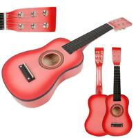 "New 23"" Plywood Acoustic Mini Guitar 6 String for Kids Beginners Practice Pink"