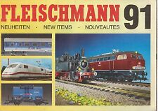 FLEISCHMANN HO N GAUGE MODEL RAILWAYS NEW ITEMS FOR 1991 CATALOGUE GB FR DE TEXT