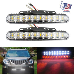 2x 30 LED Daytime Running Lights Car Driving DRL Fog Lamp Light White Bright 12V