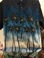 Palm Trees On the Beach  Men's Hawaiian shirt 2XL Premium Brand