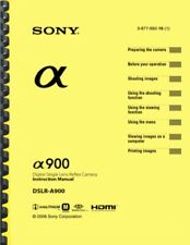 Sony Alpha A900 OWNER'S INSTRUCTION MANUAL