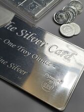 The Pyromet Silver Card, 1 oz .999 Fine, SILVER CARD w/ CoA & protective sleeve