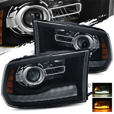 For 13-18 Dodge Ram Black Stock Projector Headlights Replacement LH/RH Assembly