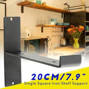20cm Iron Shelf Support Retro Industrial Wall Shelves Single Bracket Squar