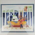 Rie Munoz Signed and Numbered Print Fresh Coat of Paint 391/950 Boat Sea Alaska