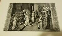 1910 ESTHER CROWNED QUEEN Print Bible OT King Ahasuerus