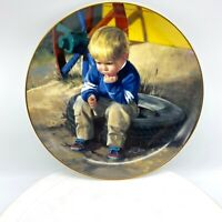 Danbury mint collectible plate The Thinker Wonders of Youth Donald Zolan porcela