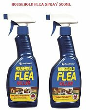 2x Flea Spray Kills Flea & Larvae Use in Cat Dog Pets Bed Carpet Furniture 500ml