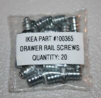 Lot of 20 Genuine IKEA Drawer Rail Screws, Part #100365