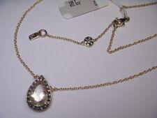 Stunning Estate 14K Yellow Gold Diamond Rutilated Quartz Pendant Necklace