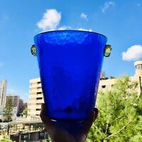 🔴 portaghiaccio ice bucket in vetro di Murano blu brillante vintage anni 80 90