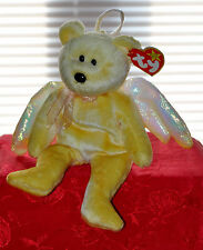 TY BEANIE BABY HALO ANGEL CUSTOM DYED YELLOW UNIQUE PLUSH BEAR