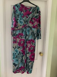 M&S PER UNA Jersey Dress 18 Long - Worn Only Once