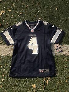 Dallas Cowboys Dak Prescott #4 Youth Medium (10/12) Navy Nike Limited Jersey