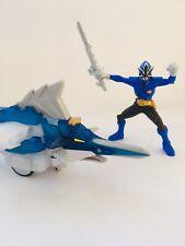 Power Rangers SAMURAI Swordfish Zord & Blue Ranger Original Set Bandai 2011