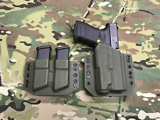 OD Green Kydex Glock 19/23/32 with Inforce APL  & Mag Carrier