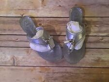 Jack Rogers Alana Sparkle Jelly Sandals Silver New With Box! Size 5