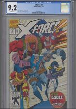 X-Force #8  CGC 9.2 1989  Marvel Rob Liefeld Comic with Cable Cover: New Frame