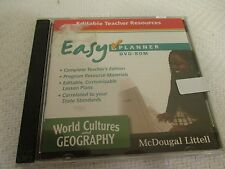 World Cultures Geography Dvd-Rom McDougal Littell Easy Planner Teacher Resource
