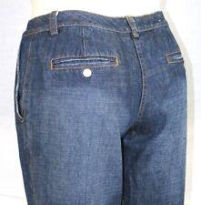 Isaac Mizrahi Blue Stonewashed Classic High Rise Flare Jeans 8 Inseam 32