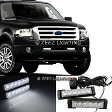 Hi-Power White 12 LED Emergency Hazard Flash Warning Beacon Strobe Light Bar C91