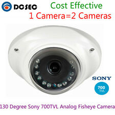 130 Degree Fish eye Wide Angle 700TVL SONY CCD IR Dome Analog CCTV Camera NTSC
