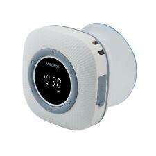 MD 43881 P66096 Duschradio mit Bluetooth, Saugnapf, LED-Display Wasserdicht weiß