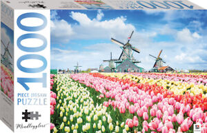 1000 Piece Jigsaw Puzzle - Dutch Windmills, Netherlands