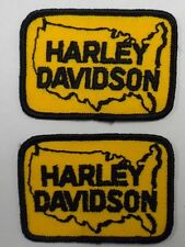 1 SET (2 EACH) VINTAGE HARLEY DAVIDSON USA Sew-On Patch EMBROIDERED