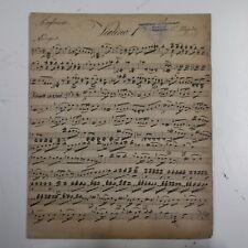 HAYDN symphony 99 , violin 1 part , antique music manuscript