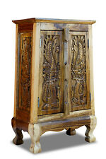 Solid Wood Cabinet Dresser Dragon Thailand Furniture Asian Thai Cabinet New
