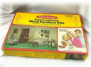 1974 REALIFE MINIATURES HERITAGE SERIES Wood Living Room HUTCH ONLY Kit 189