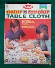 AVALON COLOR 'N RECOLOR TABLE CLOTH #967 USED WITH ORIGINAL BOX