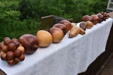 14 Vintage Wooden Carved Decorative Fruit