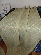 LIGHT GREEN CURTAIN PANEL GROMMETS 37X82 EMBROIDERED 2 AVAILABLE