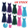UK Kids Girls Chiffon Flower Girl Dress Wedding Bridesmaid Pageant Party Dress