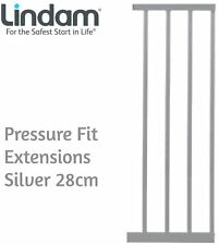 Lindam PRESSURE FIT EXTENSIONS SILVER 28CM Safety Stair Gate BN