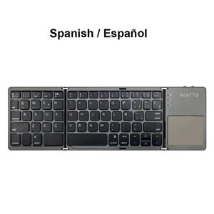 Folding keyboard Wireless Bluetooth Keyboard with Touchpad for Android IOS Windo