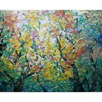 Oil Painting Variation Fall Foliage Autumn Colors Maple Trees Abstract Landscape