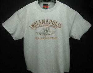 Indianapolis Motor Speedway Men's Size 2XL T Shirt Gray Brickyard Authentics