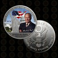 The 38th President of U.S. | George W. Bush 1974-1977 | Silver Plated Coin