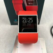 Fitbit Surge Fitness Super Watch Activity Tracker Smart Orange Heart Rate Large